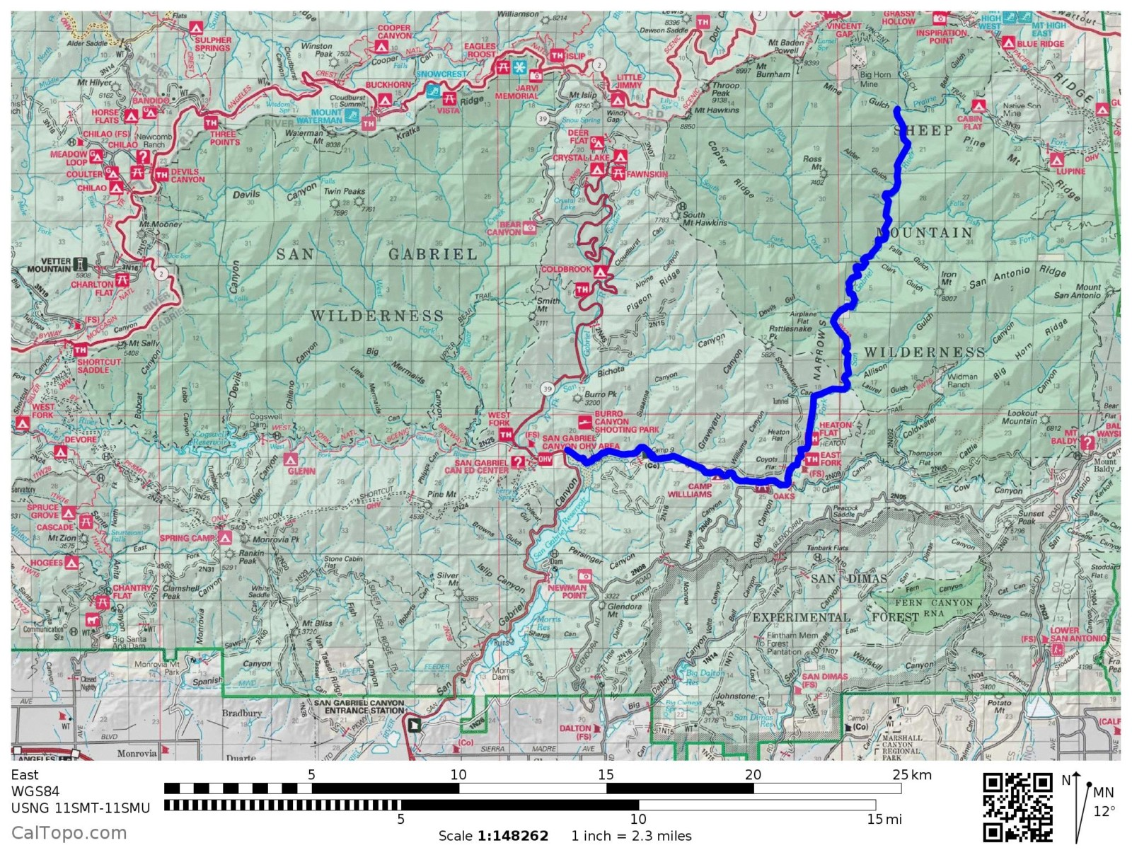 East Fork Map